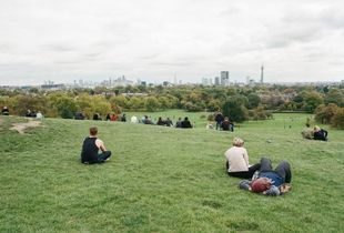The City view from Primorose Hill, Camden, September 2016