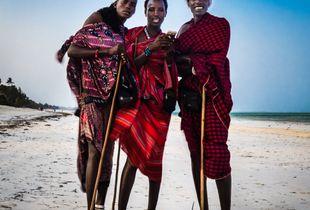 Masai Santa and his elves