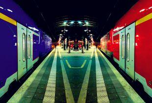 Trains of Desire; ; Frankfurt am Main, Main Train Station; January 2018