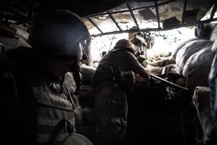 On the frontlines of the war in Ukraine