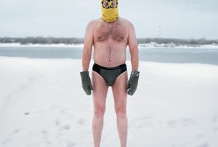 Ice swimmer, Perm, Russia 2107