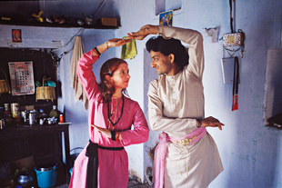 Classical Dance Academy, Varanasi, India, 1990