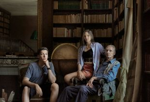 Generational - The Hugos photographed in Victor Hugo's library.