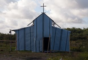 A freshly build Ethiopian church