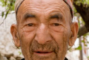 Old man at Dha village