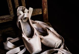 Old pointe shoes