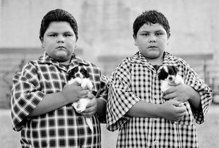 Twins Simon & Manuel. Miami, AZ  © Brian Shumway