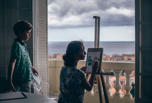 Painting in the room with a view