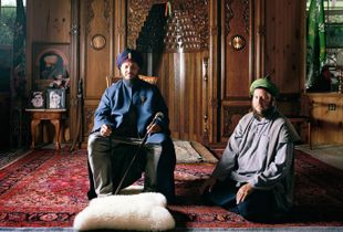 Hans and his teacher Lokman Efendi, 2013