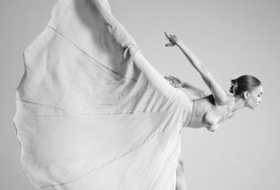 Dancer and fabric 1