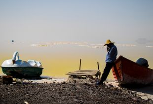 With the drying of a large part of Lake Urmia, the tourism and boating industry has flourished.