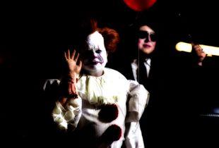 Clown with chauffeur