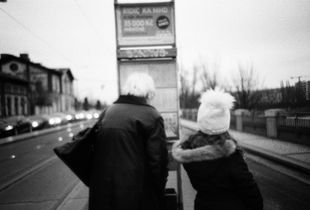 Tram stop. Prague.