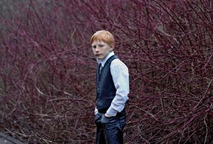 Red-headed boy in Sunday Clothes. Germany, 2015. Finalist, LensCulture Portrait Awards 2015.
