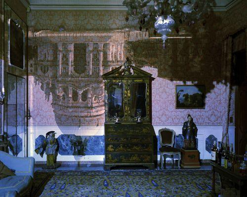 Camera Obscura Image Of Santa Maria Della Salute In Palazzo Livingroom.  Venice, Italy,