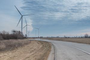 Wind Turbines, Meadow Lake IV Wind Farm, White County, Indiana, 2015