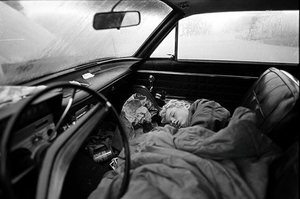 Asleep in Car