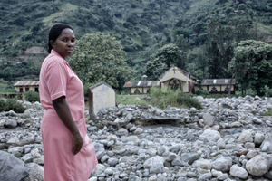 Florence Kemigisha  - from a series HOMELESS NURSESraging water, the human factor