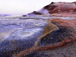 Myvatn Fumaroles, north Iceland.