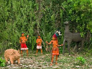 © Patrick Willocq - Lokito, hunter Walé. « Ensansa : pápá ayàlí bòbènga bònéne, bôlìáké nsombo la mbuli, mbélá îko biàlé ».Song: father is great hunter, killed wild boar and antelope, Walé these are songs of invitation.