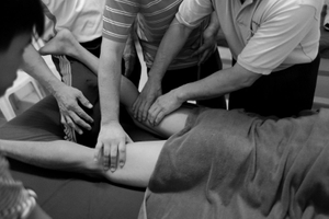 © Nafise Motlaq -Lee teaches Sport Massage to some of senior masseurs in his center.