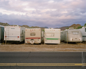 Abandoned RVs at Sunrise, from the series, Transience © Stephen Chalmers