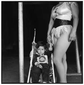 Circus Pole Performer and Son © Norma I. Quintana