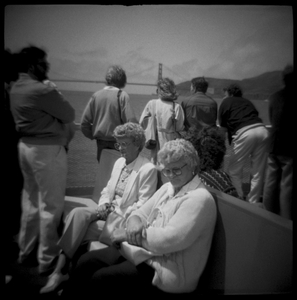 Women on the Ferry to Tiburon, San Francisco Bay, CA