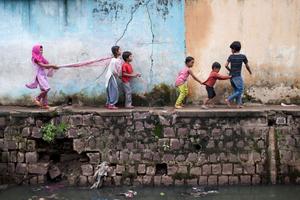 Playful Indian Children