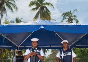 Navy soldiers. Playa de La Ropa. Zihuatanejo.