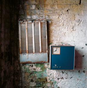 Time clock, Royal Mills, Ancoats, England © Dan Dubowitz