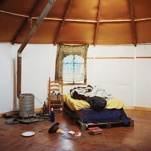 Inside a yurt, Sierra Nevada, Spain, 2013 © Antoine Bruy