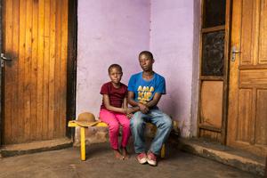 Naleli & Leseli Kompie - Quthing, Lesotho 2015