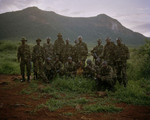call sign 9.1, isiolo county, northern kenya-from the series 'with butterflies and warriors'-David Chancellor