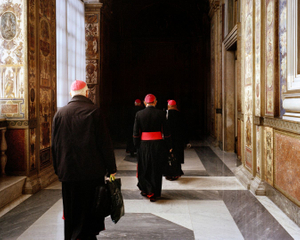 Vatican City State.  2012. A delegation of Bishops visit the Apostolic Palace of Sixtus V. Occasionally, a CCEE delegation is invited to attend a private audience with the Pope.