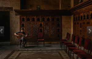 Nabil Hilaneh bids adieu to the beit al Oud, playing for the last time there, to an empty hall. Having fled the despotism in Syria, he is unwilling to live under it in Egypt. In a few days he will stake his life for a chance at liberty.