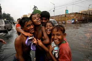 Happiness can be anywhere. Kolkata, India.