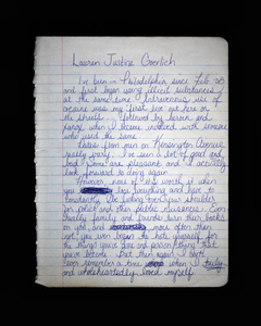 Journal Entry by Lauren