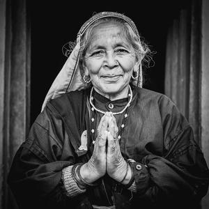 Woman in Mana, India