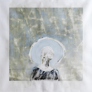 'Olwen' - Unique distressed archival pigment print on Epson hot press paper with acrylic paint - 40 x 40 inches - 2016