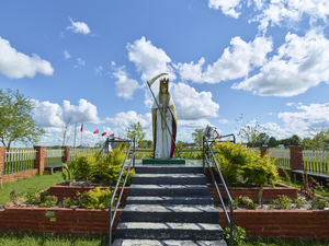 Sculpture portraying San la Muerte in Solaris village Corrientes