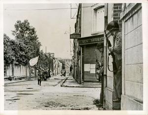 """Nazi Surrender After Fierce Battle, France"", 1944 © Robert Capa, Galerie Daniel Blau"