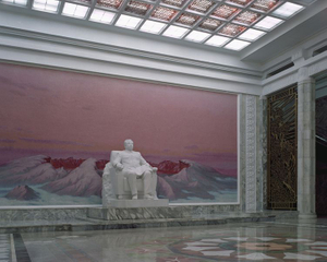 Grand People Study House entrance hall. This is Pyongyang's central library that was built to celebrate leader Kim Il-Sung's 70th birthday. It has a total floor space of 100,000 square meters and 600 rooms. © Maxime Delvaux