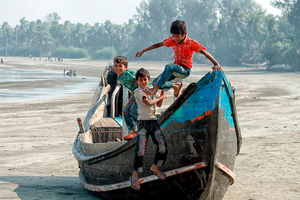 Children Of St Martins Island Bangladesh