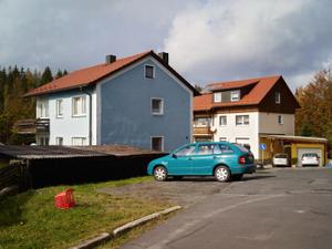 Housing development built in 1958 at the site of the former prisoner barracks of Flossenbürg concentration camp.
