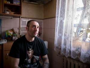 Andrea Palmeri, the first Italian volunteer in Donbass. He escaped from Italy and he's now fighting for the separatists of Novorossiya in Luhansk.