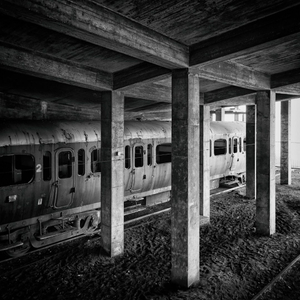 train in concrete