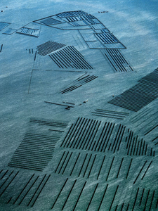 "Oyster industry near Botany Bay, New South Wales, Australia. The grid pattern is formed by the oyster racks, from the series ""Abstract Earth"" © Richard Woldendorp"