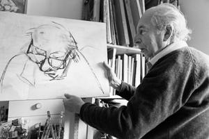 Portrait of Shmuel Dresner.