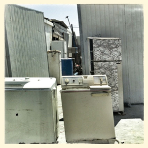 Kitchen equipment in Za'atari refugee camp